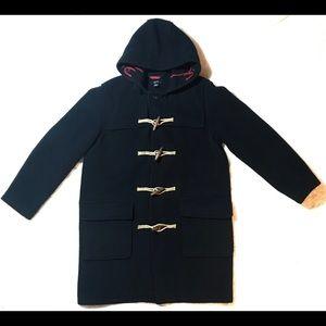 J. Crew Navy Toggle Duffle Winter Long Coat Wool